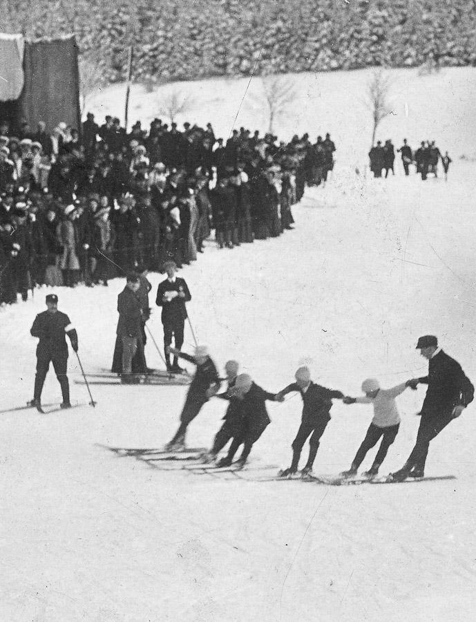 Wintersport früher